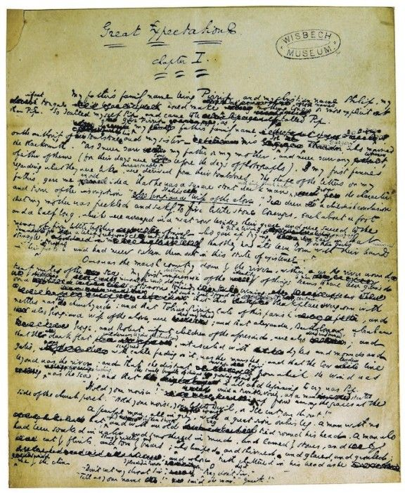 manuscrito-charles-dickens